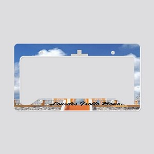 Lourdes Grotto Bonaire14x6 License Plate Holder